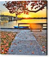 Sunrise Seista Drive2  Acrylic Print by Jenny Ellen Photography