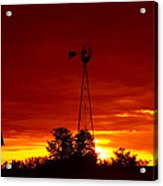 Sunrise Windmill 1 C Acrylic Print