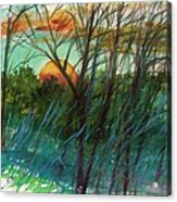 Sun's Edge Acrylic Print