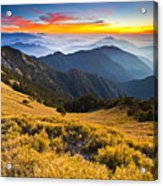 Sunset , Hehuan Mountain , Taroko National Park , Acrylic Print