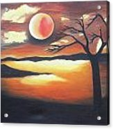 Sunset - Oil Painting Acrylic Print by Rejeena Niaz