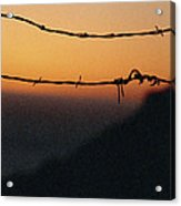 Sunset And Barbed Wire At Big Sur Acrylic Print