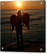 Sunset Angel Acrylic Print