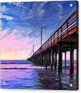Sunset At Avila Beach Acrylic Print