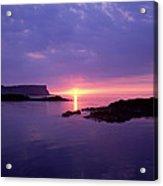 Sunset At Benbane Head On The North Acrylic Print