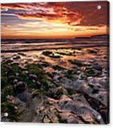Sunset At Birling Gap Acrylic Print