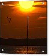 Sunset At Cape Cod Acrylic Print