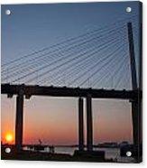 Sunset At Dartford Bridge Acrylic Print