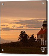 Sunset At East Point Light  Acrylic Print