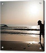 Sunset At Freathy Acrylic Print