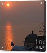 Sunset At Iao Greece Acrylic Print