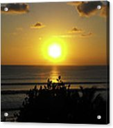 Sunset At Kuta Beach Acrylic Print