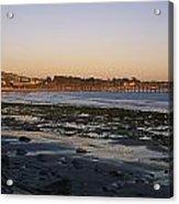 Sunset At Low Tide On Ventura Beach Acrylic Print