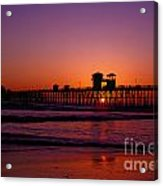 Sunset At Oceanside Pier Acrylic Print