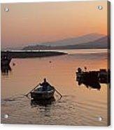 Sunset At Rosdohan Pier Near Sneem Acrylic Print