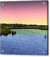 Sunset At Sandpiper Pond Acrylic Print