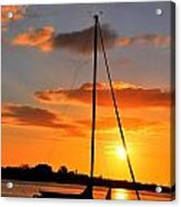 Sunset At Sea Acrylic Print
