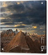 Sunset At The Badlands Acrylic Print