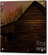 Sunset At The Barn Acrylic Print
