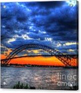 Sunset At The Bayonne Bridge Acrylic Print