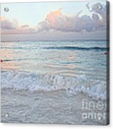 Sunset At The Beach Yucatan Peninsula Mexico Acrylic Print