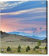Sunset At The Colorado High Park Wildfire  Acrylic Print