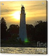 Sunset At The Ft. Gratiot Lighthouse Acrylic Print