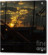 Sunset At The Georgia State Fair Acrylic Print