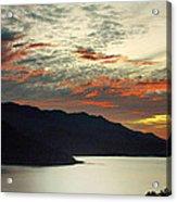 Sunset At The Lake Acrylic Print