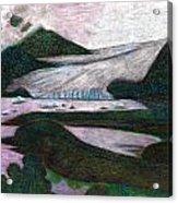 Sunset At Mendenhall Glacier Juneau  Alaska Acrylic Print