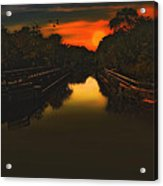 Sunset At The Old Canal Acrylic Print