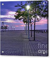 Sunset At The Plaza Acrylic Print