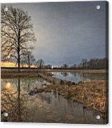 Sunset At Timber Banks Acrylic Print