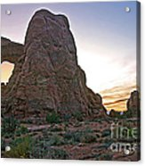 Sunset At Turret Arch Acrylic Print