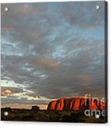 Sunset At Uluru Acrylic Print