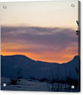 Sunset At White Sands Acrylic Print