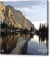 Sunset At Willow Lake Acrylic Print