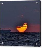 Sunset Barge Acrylic Print