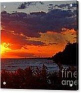 Sunset By The Beach Acrylic Print