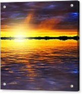 Sunset By The River Acrylic Print by Svetlana Sewell