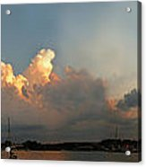 Sunset Clouds Over The Bay Acrylic Print