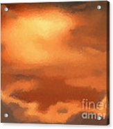 Sunset Clouds Acrylic Print by Pixel Chimp