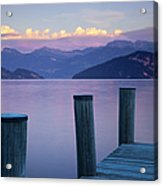 Sunset Dock Acrylic Print by Brian Jannsen