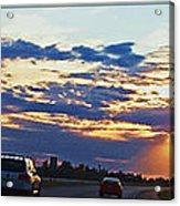 Sunset Drive Acrylic Print