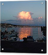 Sunset From Anzio Acrylic Print