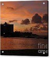 Sunset From Street Level Acrylic Print