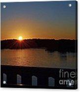 Sunset From The Bridge Acrylic Print