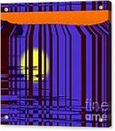 Sunset Grid Acrylic Print