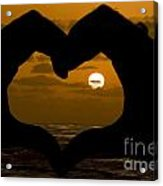 Sunset Hearts Acrylic Print