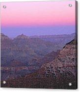 Sunset Hues At Grand Canyon Acrylic Print